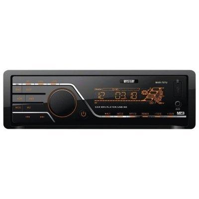 Автомагнитола Mystery MAR-707U (MAR-707U)Автомагнитолы Mystery<br>автомагнитола 1 DIN<br>воспроизведение MP3<br>макс. мощность 4 x 50 Вт<br>воспроизведение с USB-накопителя<br>аудиовход на передней панели<br>радиоприемник <br>поддержка карт памяти SD<br>