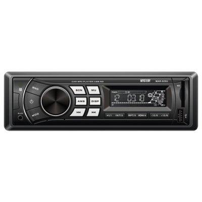 Автомагнитола Mystery MAR-929U (MAR-929U)Автомагнитолы Mystery<br>автомагнитола 1 DIN<br>воспроизведение MP3<br>макс. мощность 4 x 50 Вт<br>воспроизведение с USB-накопителя<br>аудиовход на передней панели<br>радиоприемник <br>поддержка карт памяти SD<br>