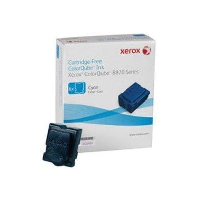 Набор твердочернильных брикетов ColorQube 8870 Голубой 6шт (17 300 отпечатков) (108R00958)Твердочернильные брикет Xerox<br>Для серий: Xerox ColorQube 8870.<br>