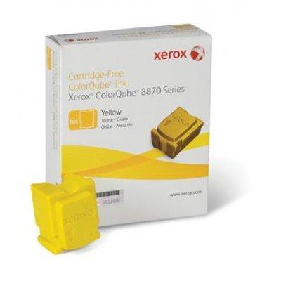 Набор твердочернильных брикетов ColorQube 8870 Желтый 6шт (17 300 отпечатков) (108R00960)Твердочернильные брикет Xerox<br>Для серий: Xerox ColorQube 8870.<br>