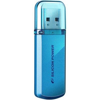 USB накопитель 4Gb Silicon Power Helios 101, USB 2.0, Синий (SP004GBUF2101V1B) usb flash накопитель silicon power helios 101 4gb green