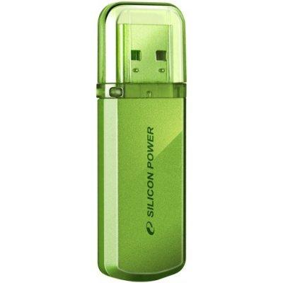USB накопитель 4Gb Silicon Power Helios 101, USB 2.0, Зеленый (SP004GBUF2101V1N), арт: 82240 -  USB накопители Silicon Power