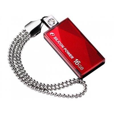 USB накопитель 8Gb Silicon Power Touch 810, USB 2.0, Красный (SP008GBUF2810V1R)USB накопители Silicon Power<br>флэш-накопитель 8 Гб<br>интерфейс USB 2.0<br>выдвижной разъем<br>водонепроницаемый корпус<br>материал корпуса: пластик<br>