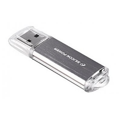USB накопитель 8Gb Silicon Power Ultima II, USB 2.0, Серебристый (SP008GBUF2M01V1S) usb flash накопитель silicon power ultima u03 8gb white