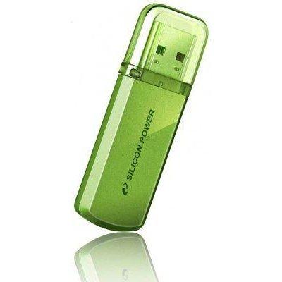 USB накопитель 16Gb Silicon Power Helios 101, USB 2.0, Зеленый (SP016GBUF2101V1N)USB накопители Silicon Power<br>флэш-накопитель 16 Гб<br>интерфейс USB 2.0<br>материал корпуса: металл<br>
