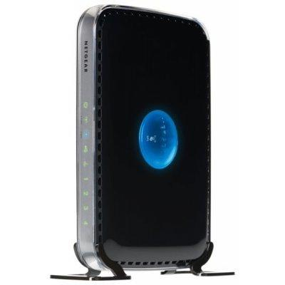 Wi-Fi роутер Netgear WNDR3400 (WNDR3400-100PES)Wi-Fi роутеры Netgear<br>802.11n 600 Мбит/с (2.4 ГГц и 5 ГГц) (1 WAN, 4 LAN FE и 1 USB 2.0 порт) с функциями энергосбережения, поддерживает IPTV и L2TP<br>