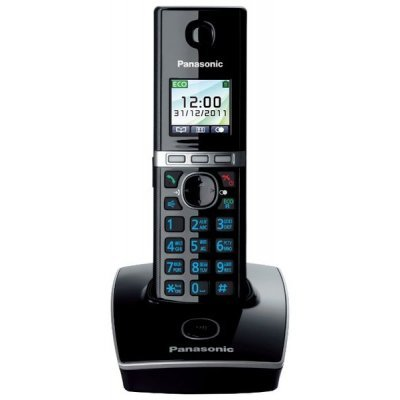 Радиотелефон Panasonic KX-TG8051 черный (KX-TG8051RUB) panasonic kx tg8061 rub dect телефон