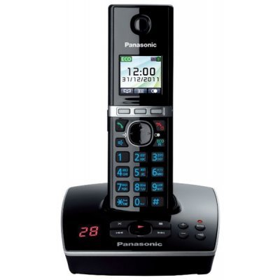 Радиотелефон Panasonic KX-TG8061 черный (KX-TG8061RUB) panasonic kx tgh222 rub black dect телефон