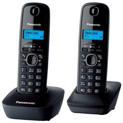 Радиотелефон Panasonic KX-TG1612RUH серый (KX-TG1612RUH) атс panasonic kx tem824ru аналоговая 6 внешних и 16 внутренних линий предельная ёмкость 8 внешних и 24 внутренних линий