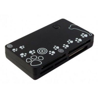 Картридер PC PET CR-215DBK USB 2.0 SDHC/CF/XD/MS/TF/M2 (24-in-1) черный (CR-215DBK)Картридеры PC PET<br>Устройство чтения карт памяти PC PET CR-215DBK USB 2.0 SDHC/CF/XD/MS/TF/M2 (24-in-1) Dog Black<br>