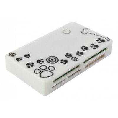 Картридер PC PET CR-215DWH USB 2.0 SDHC/CF/XD/MS/TF/M2 (24-in-1) белый (CR-215DWH) 46 in 1 usb 2 0 sdhc sd xd ms m2 tf card reader assorted color