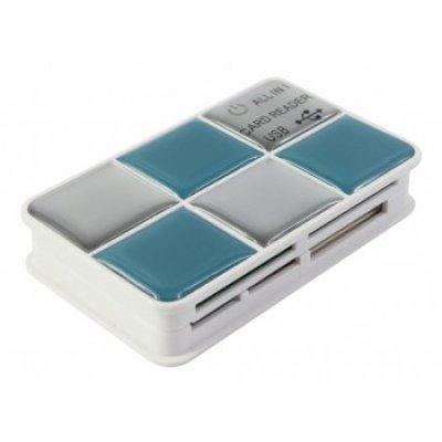 Картридер PC PET CR-217CBL USB 2.0 SDHC/CF/XD/MS/TF/M2 (24-in-1) синий (CR-217CBL)Картридеры PC PET<br>Устройство чтения карт памяти PC PET CR-217CBL USB 2.0 SDHC/CF/XD/MS/TF/M2 (24-in-1) Choco Blue<br>