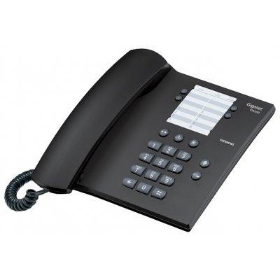 Проводной телефон Siemens Gigaset DA100 черный (DA100) цвет mooncase huawei p8 дело желе силиконовый гель тпу тонкий с подставкой обложка чехол для huawei ascend p8 красный