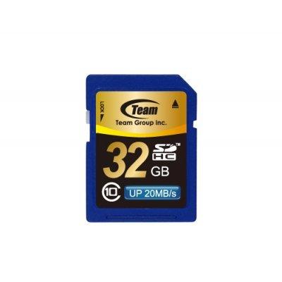 Карта памяти TEAM 32GB SDHC Class 10 (765441411999) (TSDHC32GCL1001)Карты памяти Team Group<br>Retail, class 10<br>