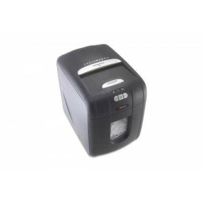 Шредер Rexel Auto+ 100 поперечной резки, для офисного использования (2102559EU) (2102559EU)Шредеры Rexel<br>Шредер поперечной резки для офиса. Рассчитан на уничтожение скрепленных скобами и скрепкам документов, а также кредитных карточек. Ультранизкий уровень шума. Переключается в экономный режим. Объем корзины 26 л. Уровень секретности 3. Мощность резки 100 листов. Размер фрагмента 4х50 мм.<br>