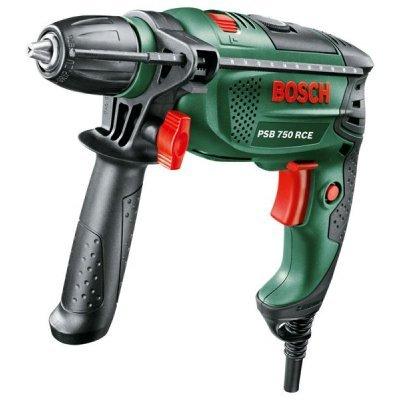 Дрель Bosch PSB 750 RCE (603128520)Дрели Bosch<br>ударная дрель<br>мощность: 750 Вт<br>быстрозажимной патрон<br>питание от сети<br>вес: 2.2 кг<br>