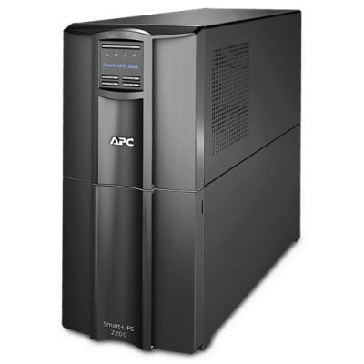 Источник бесперебойного питания APC Smart-UPS 2200VA 230V (SMT2200I)Источники бесперебойного питания APC<br>APC Smart-UPS 2200VA/1980W, Line-Interactive, LCD, Out: 220-240V 8xC13 (4-Switched) 1xC19, SmartSlot, USB, COM, EPO, HS User Replaceable Bat, Black, 3(2) y.war.<br>