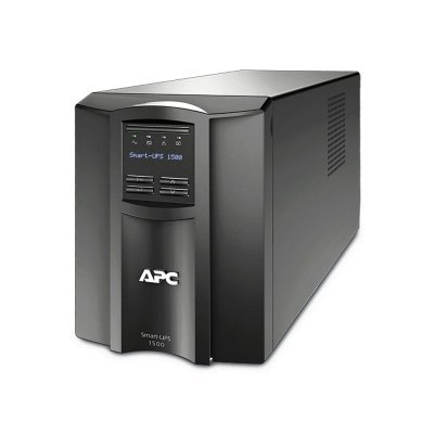 Источник бесперебойного питания APC Smart-UPS 1500VA LCD 230V (SMT1500I)Источники бесперебойного питания APC<br>1500VA/980W, Line-Interactive, LCD, Out: 220-240V 8xC13 (4-Switched), SmartSlot, USB, COM, HS User Replaceable Bat, Black, 3(2) y.war.<br>