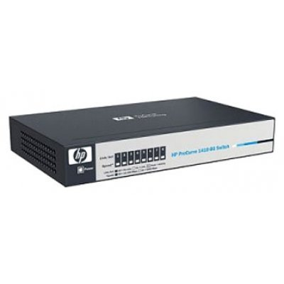 Коммутатор HP 1410-8 (J9661A) (J9661A)Коммутаторы HP<br>Switch (8 ports 10/100, Fanless, Unmanaged, desktop) (repl. for JD856A)<br>