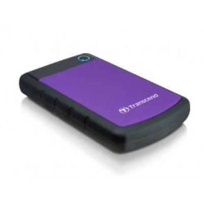 Внешний жесткий диск Transcend 500Gb StoreJet 25H3P черный/фиолетовый (TS500GSJ25H3P)