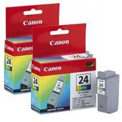 Картридж  (6882A009) Canon BCI-24 C (2 шт.)  цветной (6882A009)Картриджи для струйных аппаратов Canon<br>подходит к i320/S200/S200x/S300/S330 Photo, ресурс примерно 120 страниц (заполнение 5%)<br>