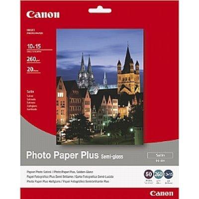 Фотобумага CANON Полуглянцевая 260г/м2, A6 (10X15), 50 л. (1686B015), арт: 93998 -  Бумага для принтера Canon