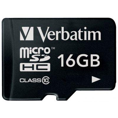 Карта памяти Verbatim 16GB microSDHC Class 10 (44010) карта памяти каркам microsdhc 16gb class 10