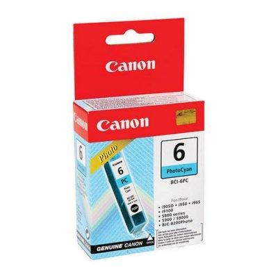 Картридж (4709A002) Canon BCI-6PC фото бирюзовый (4709A002)Картриджи для струйных аппаратов Canon<br>подходит к BJC-8200, S800/820D/830D/S900/S9000, ресурс примерно 270 страниц (заполнение 5%)<br>