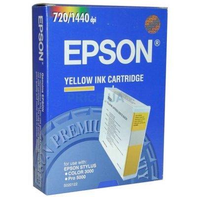 Картридж (C13S020122) EPSON для Stylus-Color 3000/Pro 5000 желтый (C13S020122)Картриджи для струйных аппаратов Epson<br>подходит к Stylus-Color 3000/Pro 5000. (C13S020122) Epson желтая<br>