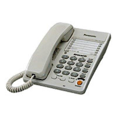 Проводной телефон Panasonic KX-TS2363 белый (KX-TS2363RUW) телефон panasonic kx dt546rub черный