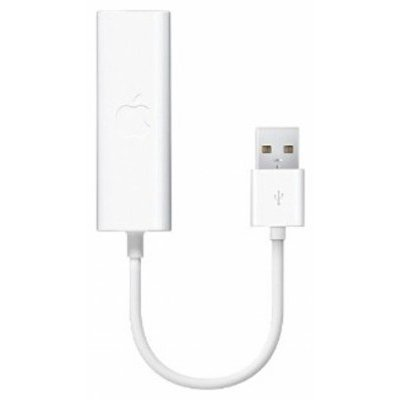 Переходник  Apple USB Ethernet Adapter (MC704ZM/A) (MC704ZM/A) адаптер usb2 0 rj45 100mbps apple ethernet adapter mc704zm a