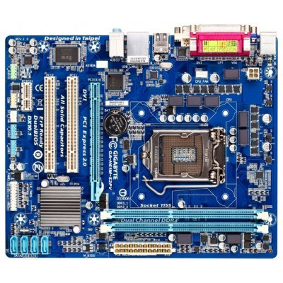 Материснкая плата Gigabyte GA-H61M-S2PV Socket 1155 (GA-H61M-S2PV)Материнские платы ПК Gigabyte<br>Gigabyte GA-H61M-S2PV (Socket 1155, intel H61) mATX<br>