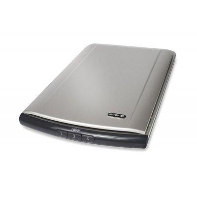 Сканер Xerox 7600i планшетный (497N01425)Сканеры Xerox<br>1200 dpi, тип датчика - CIS, количество кнопок на панели управления - 3 (Email, Copy, Custom), скорость монохромного сканирования - 200 dpi: 8 сек, скорость цветного сканирования - 300 dpi: 14 сек, глубина цветности при сканировании - 24-бит, ПО в комплекте поставки - Adobe Reader, Nuance PaperPort, ...<br>