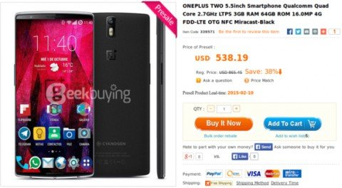 OnePlus Two ������� �� ����� ���������� ���������